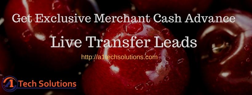 Merchant Cash Advance Leads Live Transfers